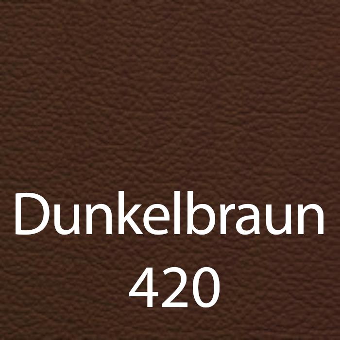 Dunkelbraun 420 Leder