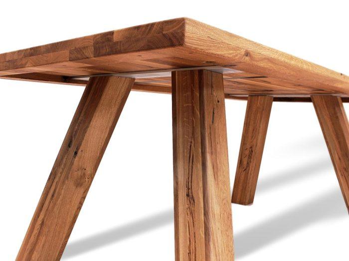 rustikal massiver massivholztisch aus eiche