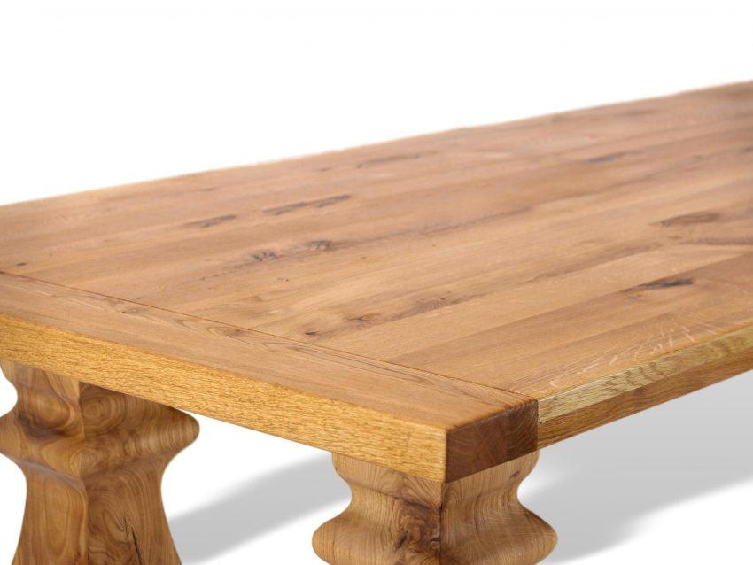 tolle tischplatte aus massivholz für grpßen esstisch in königlichem stil
