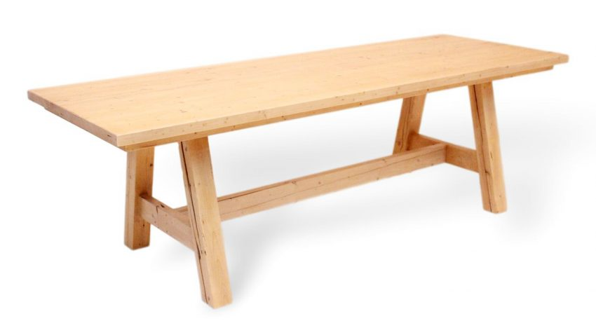 esstisch aus massivholz in tollem design auf maß möglich