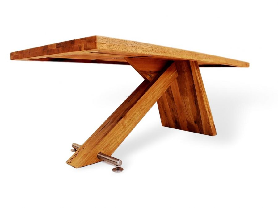 exklusiver massivholztisch aus massivholz