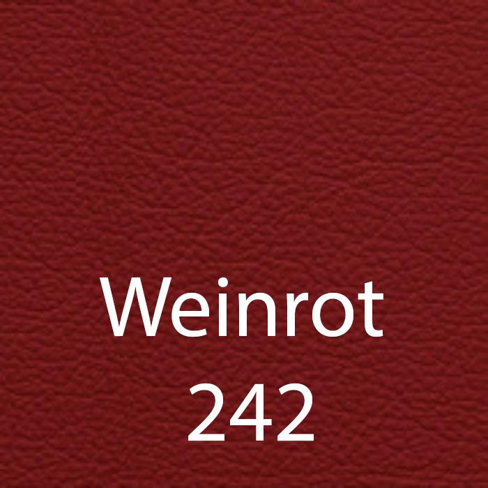 Weinrot 242 Leder
