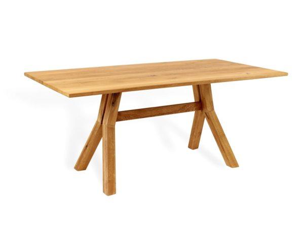 Moderner Esstisch mit mittelfuß aus massivholz