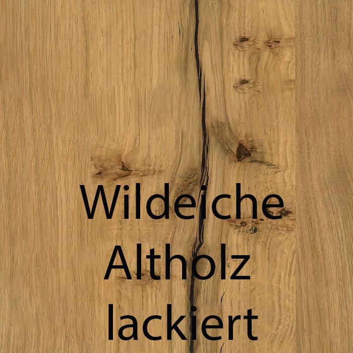 Wildeiche Altholz lackiert