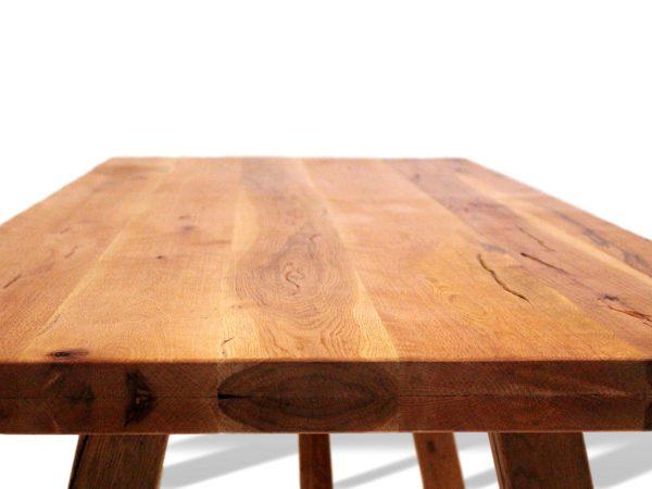 edle tischplatte aus eichenholz geölt