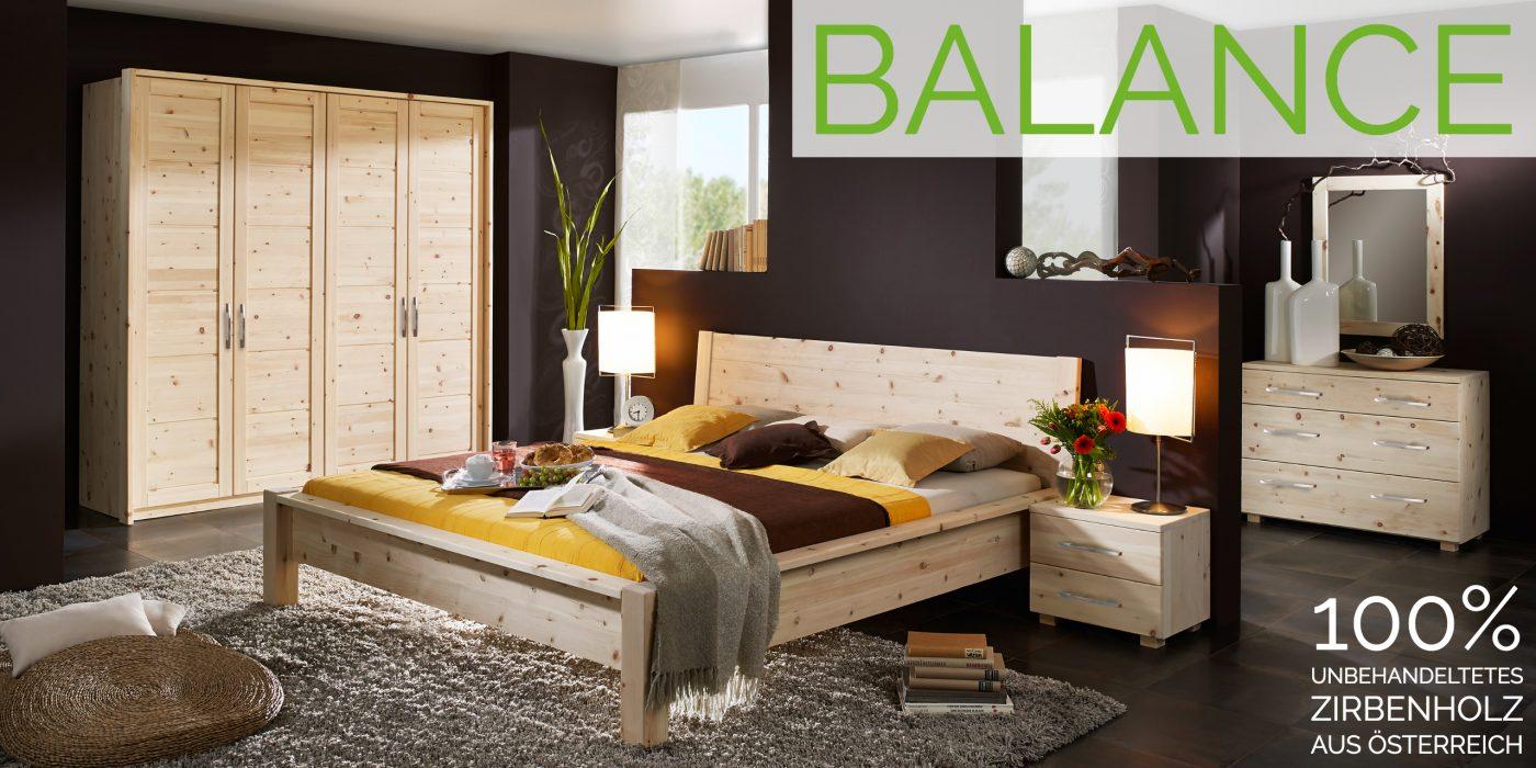 modernes schlafzimmer aus zirbenholz