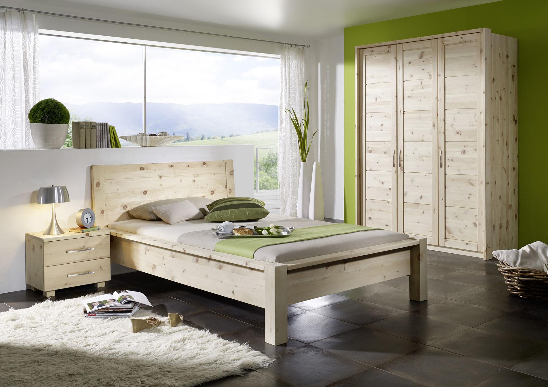 BALANCE | Traumhaftes Schlafzimmer aus Zirbenholz | 6 tlg.
