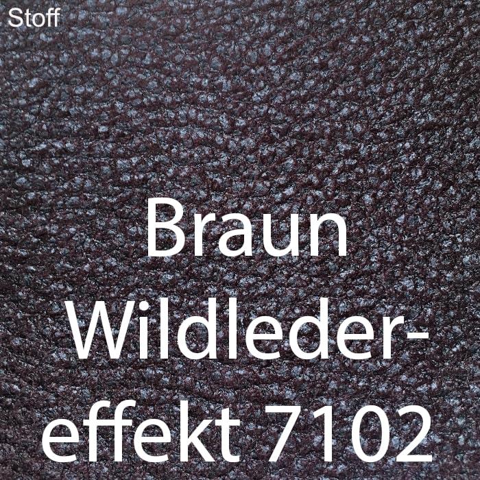 Braun Wildleder