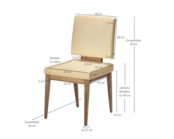 Retro 70er Jahre Massivholz Stuhl