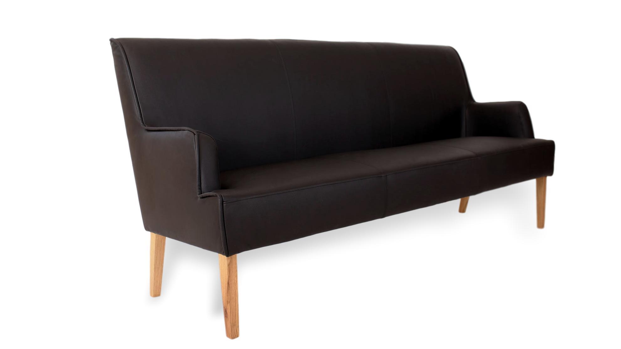 BUNIKA | Nostalgische Sitzbank mit hohem Komfort | Echtleder
