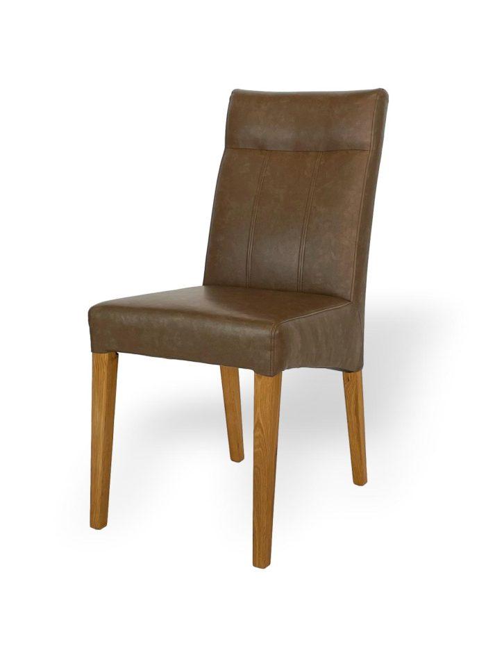 Designerstuhl Esszimmerstuhl hochwertig Massivholz Leder