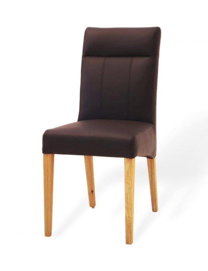 designerstuhl für ihr esszimmer aus leder und massivholz