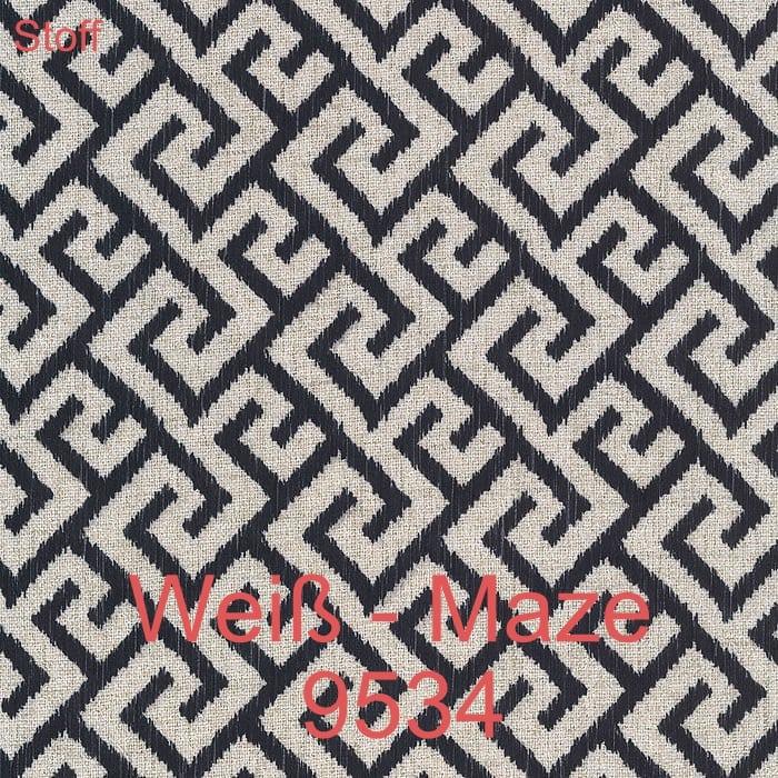 Weiß Maze 9534 Stoff