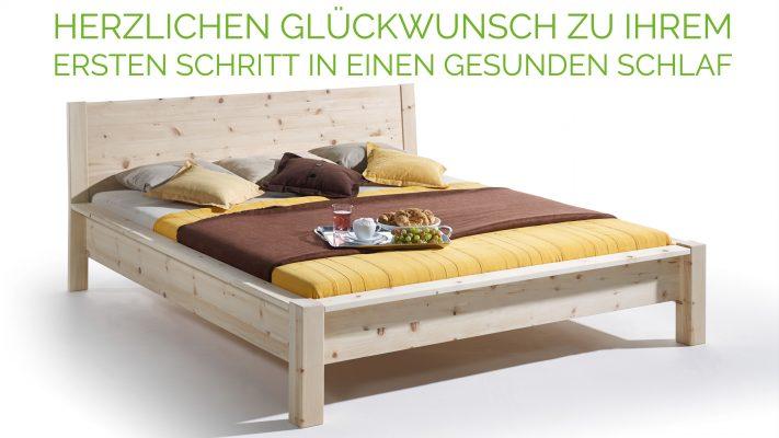 Zirbenholz Massivholz Bett