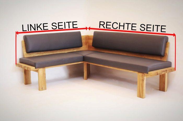 eckbank aus massivholz linke seite rechte seite beschreibung