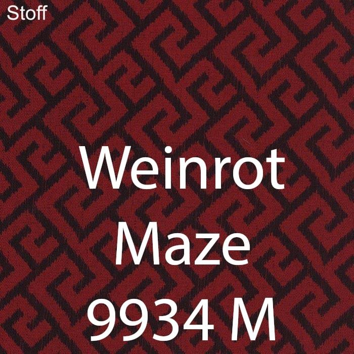 Weinrot Maze 9934 Stoff