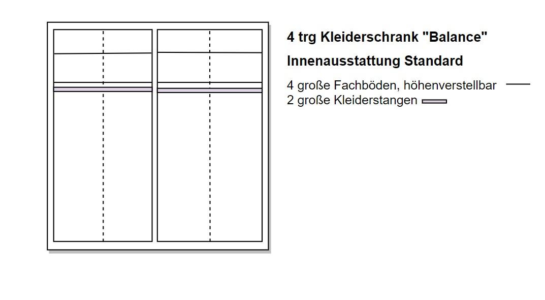 Skizze eines 4 türigen Schrankes von Naturnah Möbel - Massivholzmöbel auf Maß