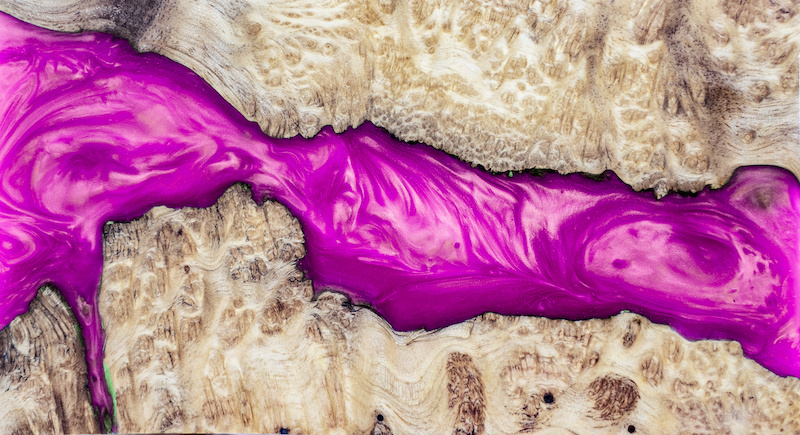 Epxoxidmöbel veredelt in luxuriösem Pink