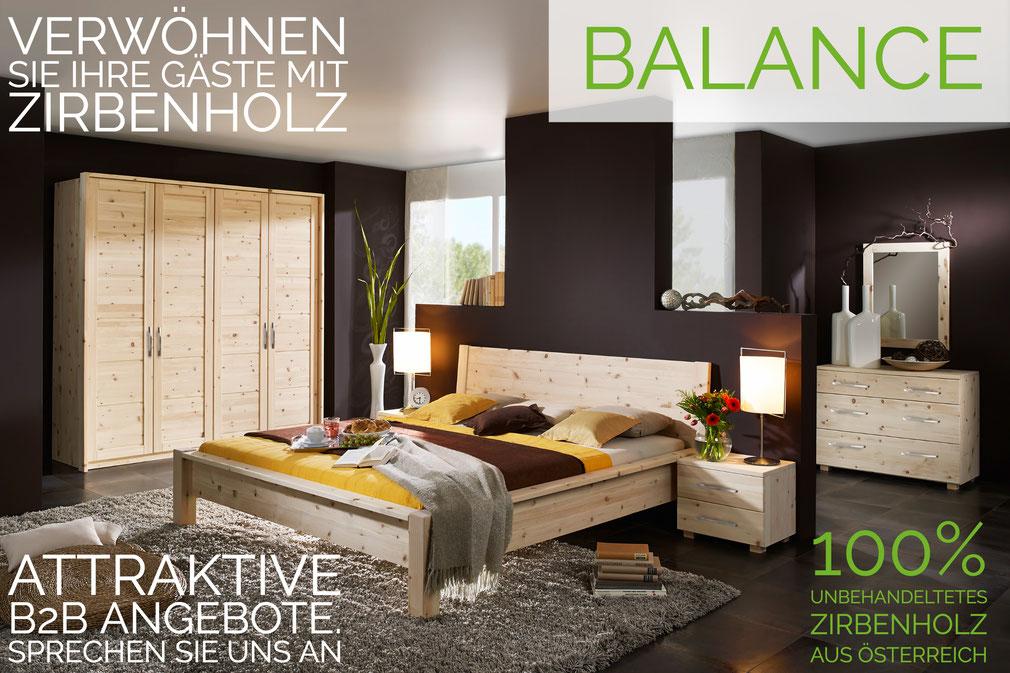 Zirbenholz Schlafzimmer aus Zirbe - Exklusiv bei Naturnah Möbel. Erholsamer Schlafen