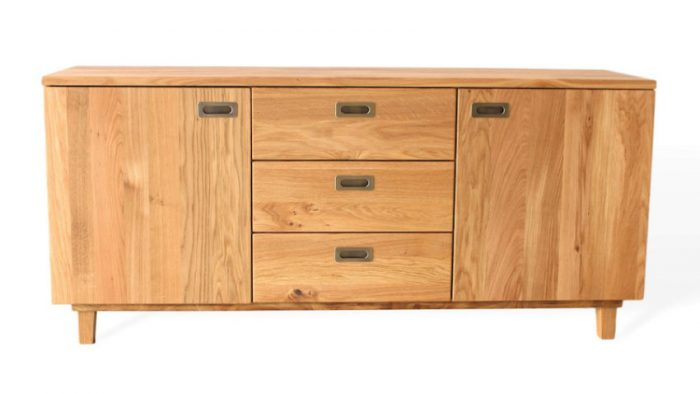 Sideboard aus Massivholz mit Schubladen und Türen