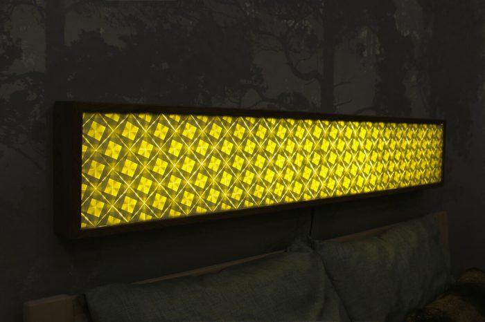Goldenes Licht LED Lichtwand
