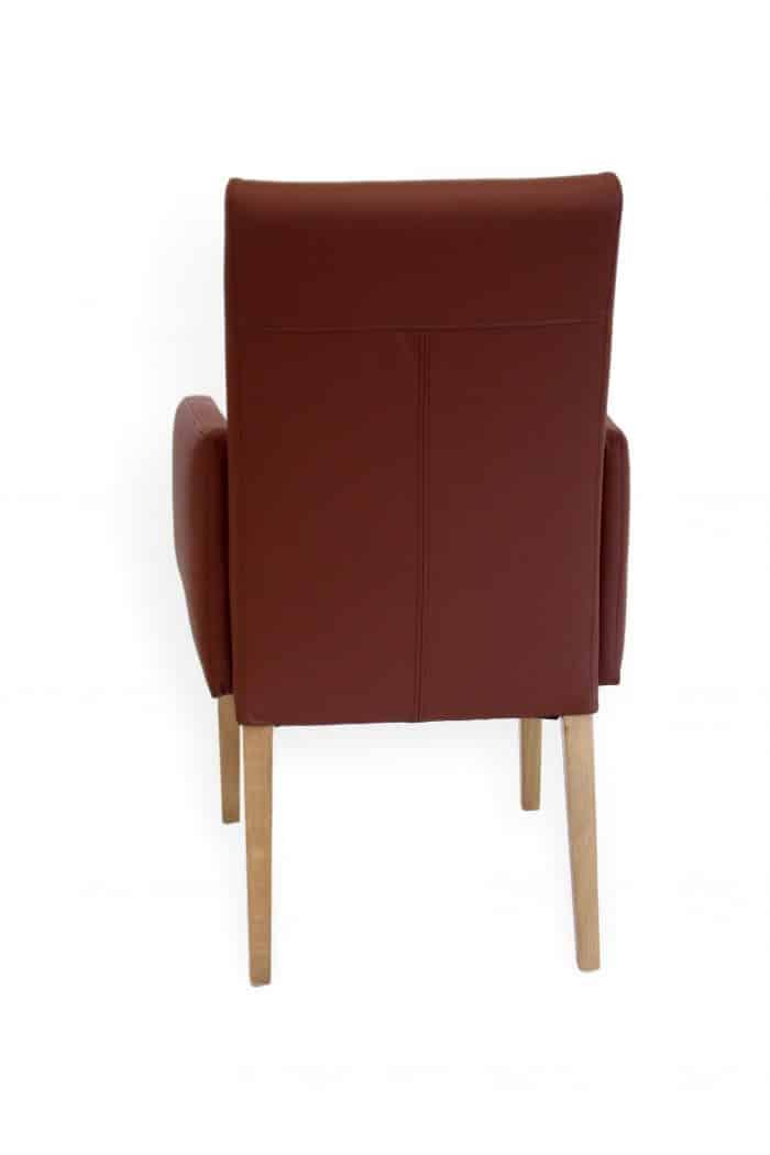Moderner Stuhl mit armlehne
