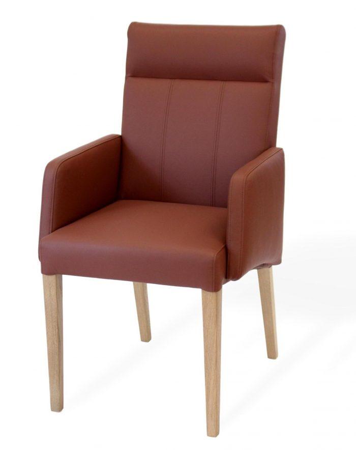 Esszimmerstuhl aus Leder mit armlehne