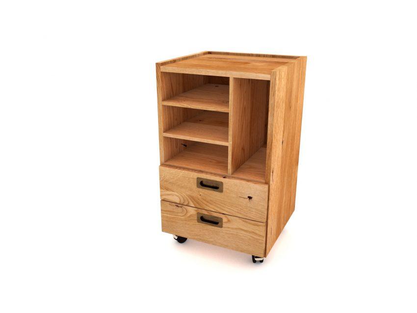 MIO move rollcontainer aus massivholz für büro