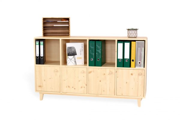 Moderne Kommode aus massivholz für den office bereich