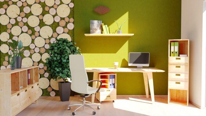 Home Office aus Massivholz