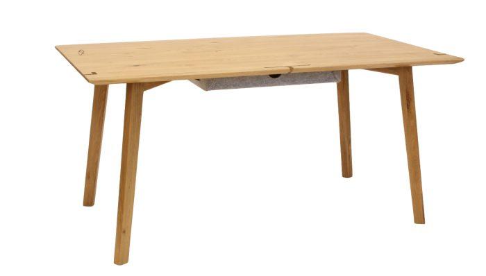 Schreibtisch aus massivholz eiche