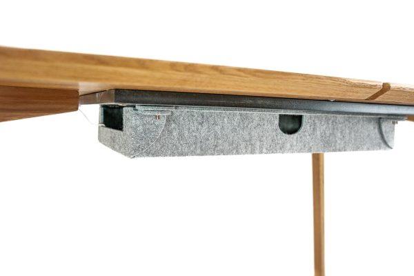 büro kabelbox schreibtisch aus massivholz detail für kabelführung
