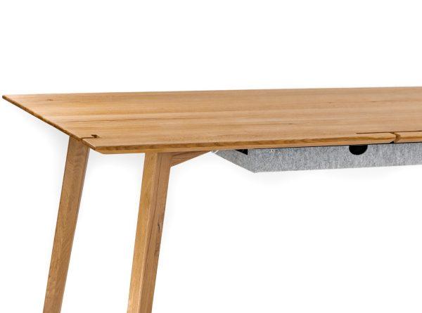 Schreibtisch aus massivholz handgefertigt mit funktionen details
