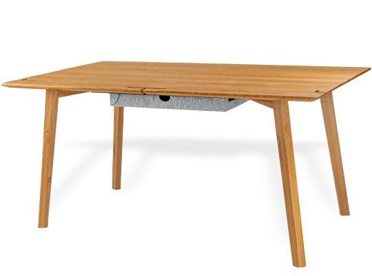 Schreibtisch aus massivholz handgefertigt mit funktionen