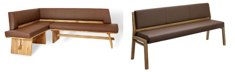 Möbel aus Massivholz Sitzbankgruppe