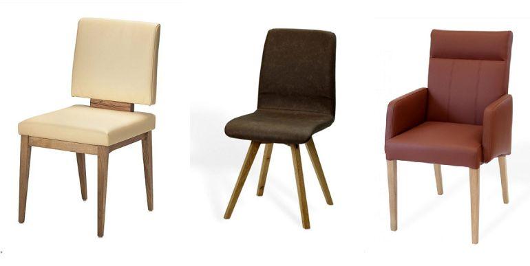 Stuhl aus Massivholz und Leder