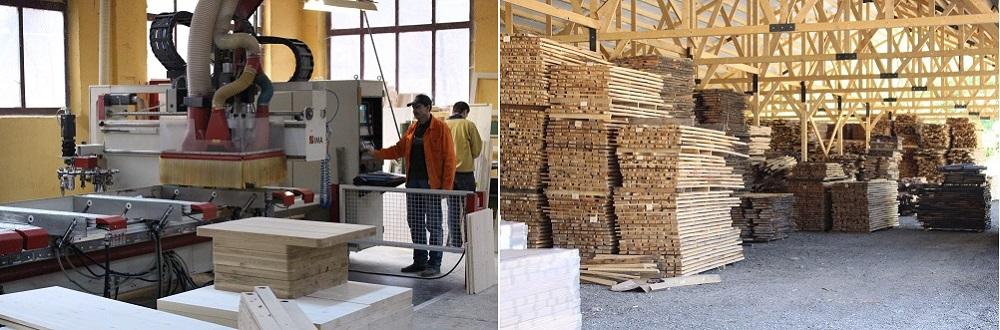 Produktion Massivholz Esstisch
