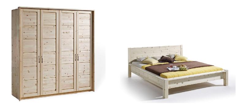 Schlafzimmer aus Massivholz der Zirbe