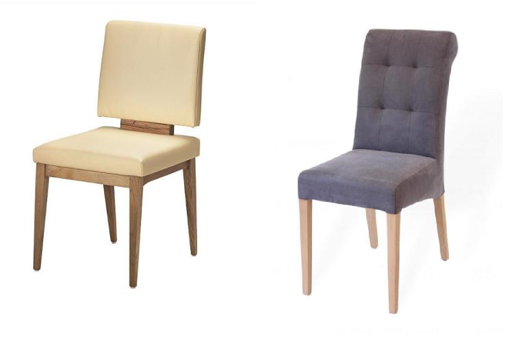 Stühle aus Massivholz ohne Armlehnen