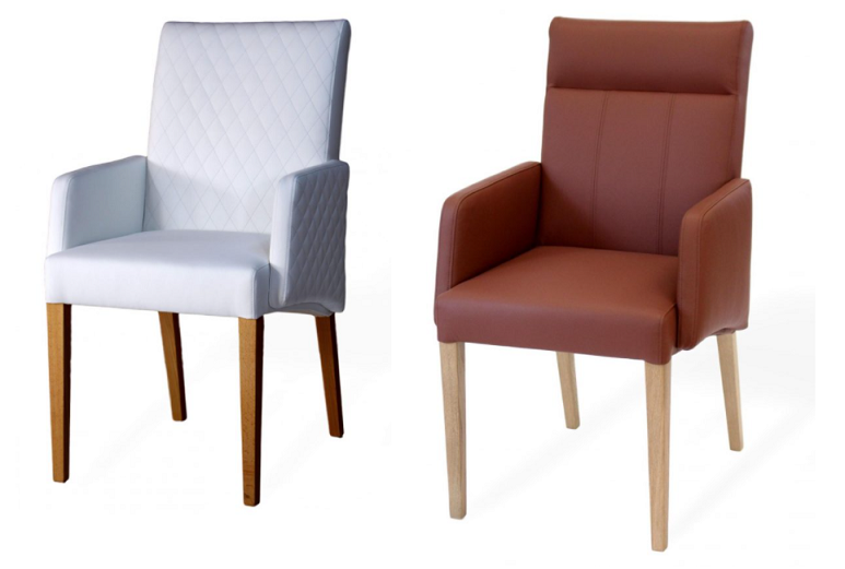 Stühle aus Massivholz mit Armlehnen