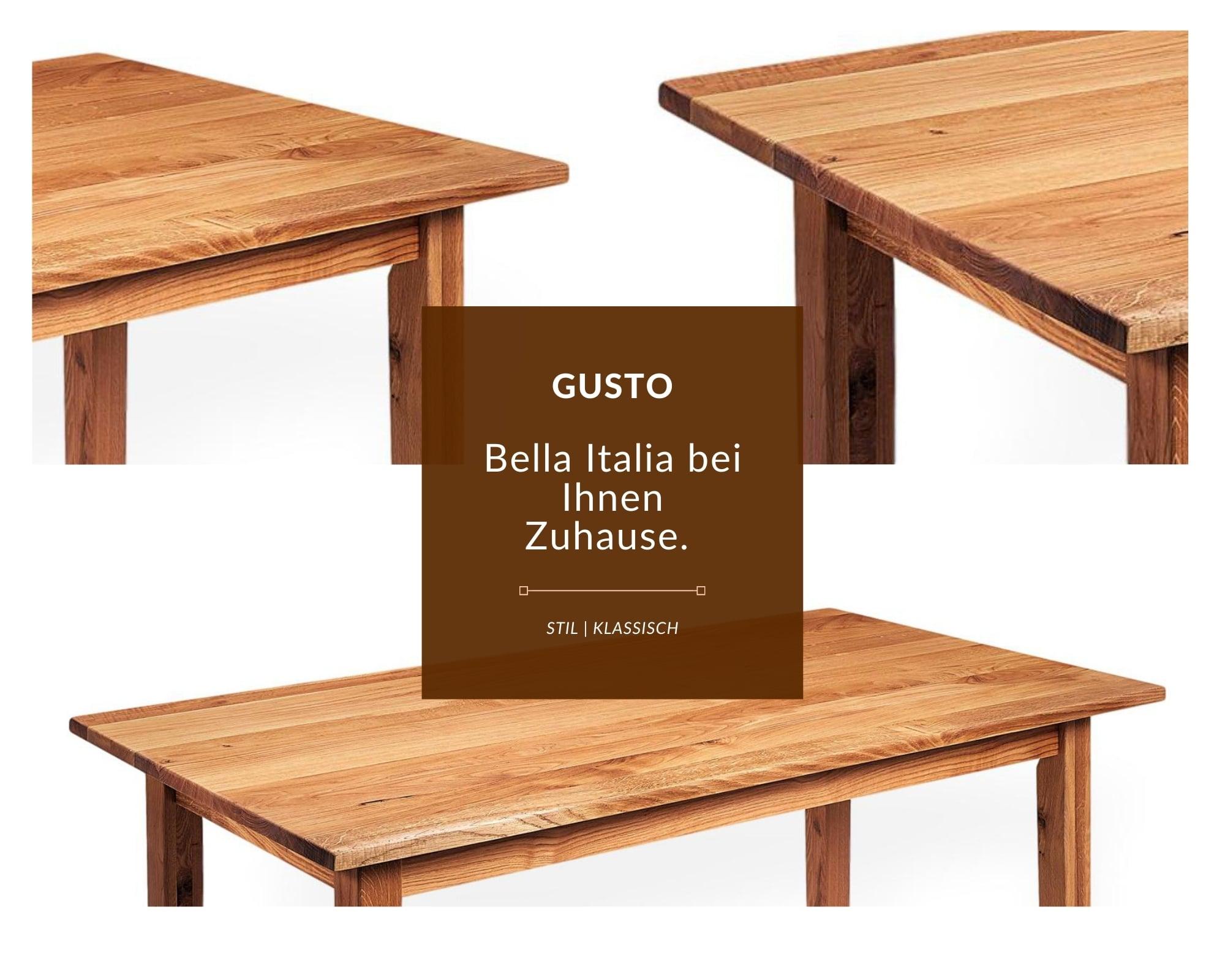 gusto esstisch aus massivholz im klassischen design gusto