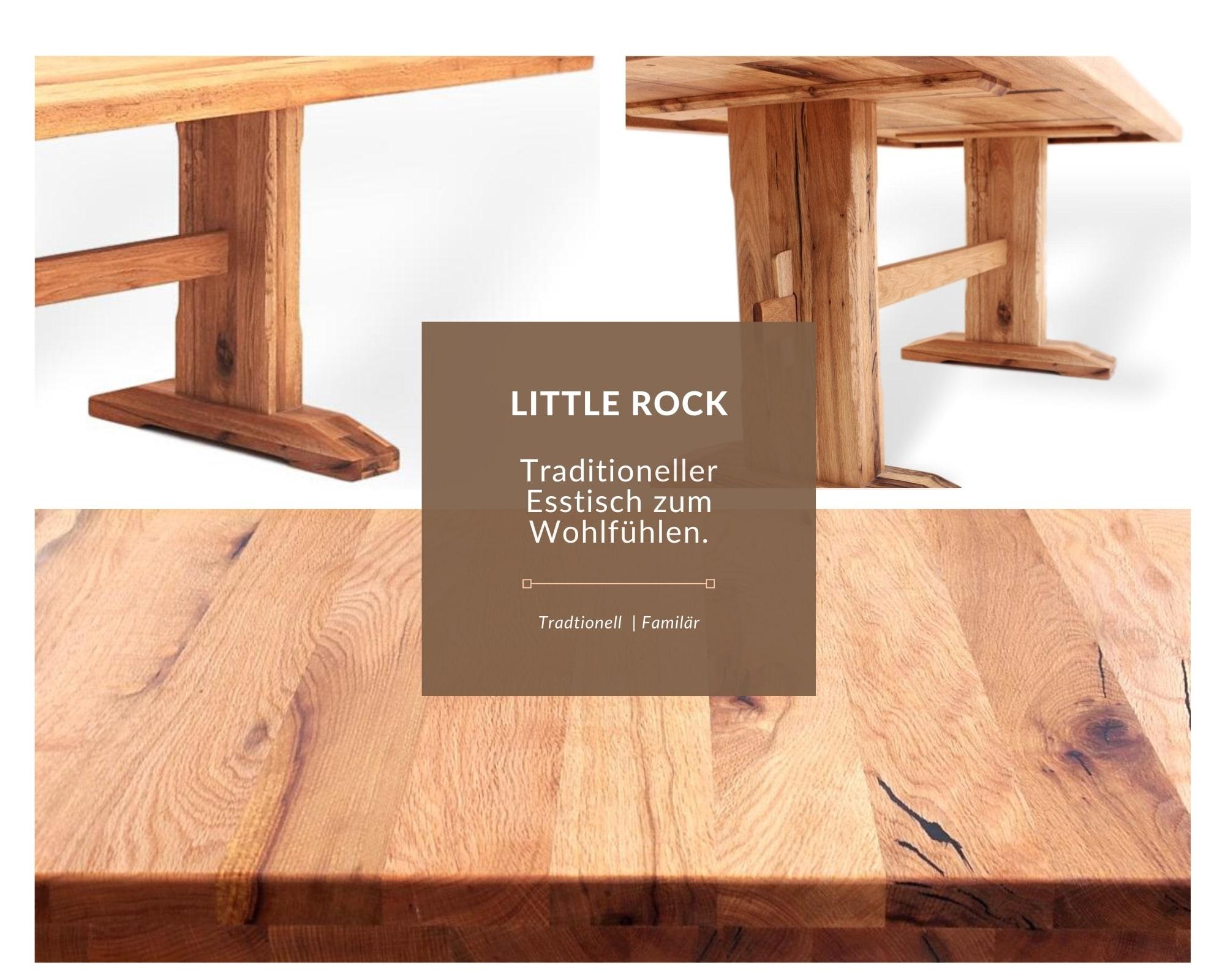 Klassischer esstisch aus massivholz-modern-details