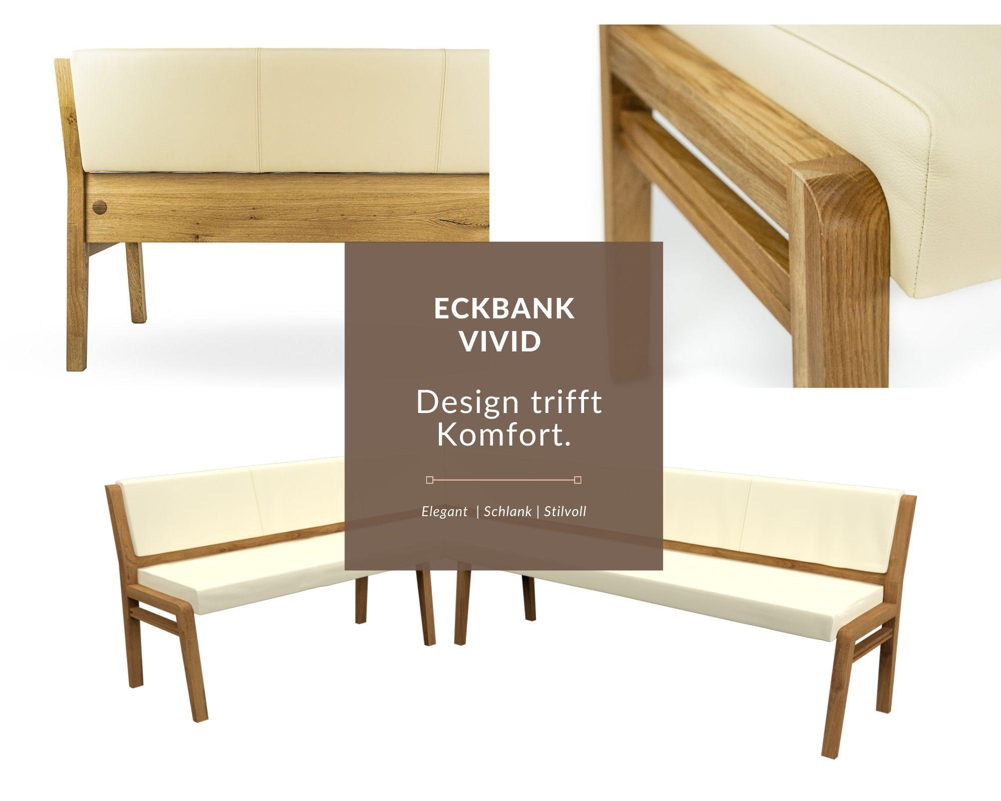 Kollage von Sitzmöbel aus massivholz und leder
