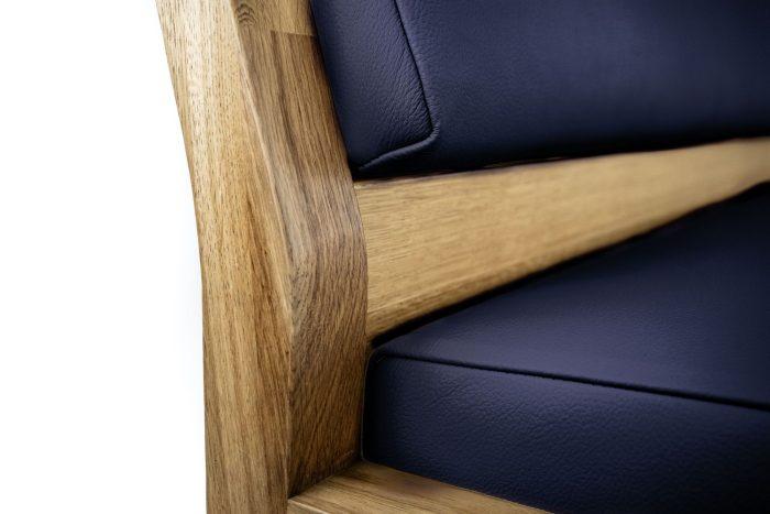 Sitzbank aus massivholz detail