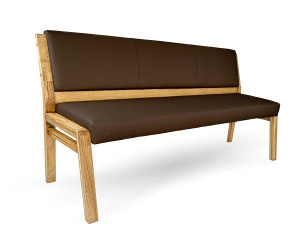 hochwertige kuechenbank nach maß aus massivholz und leder