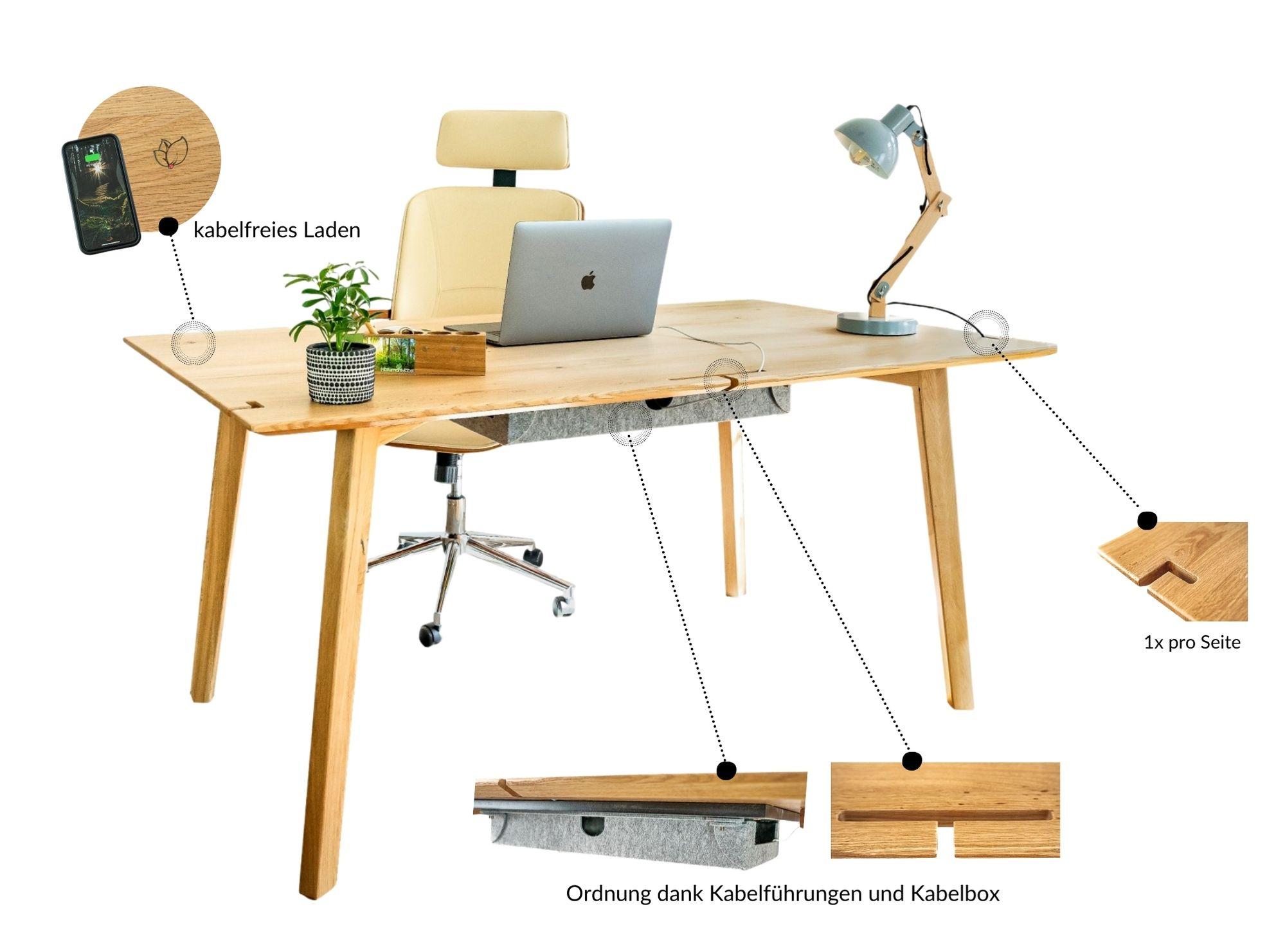 mio desk schreibtisch moodboard aus massivholz home office