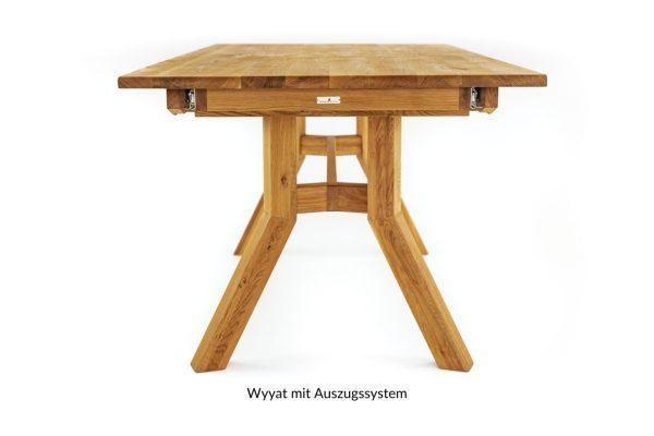 eichen massivholztisch mit auszug
