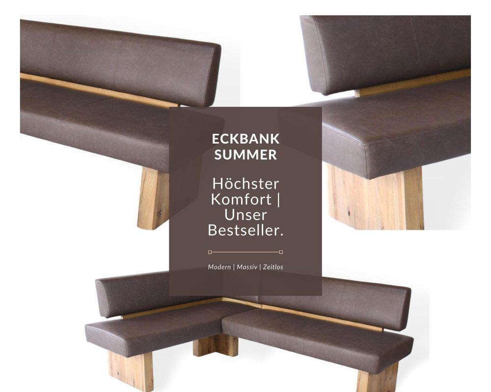 eckbank modern aus massivholz eckbank summer