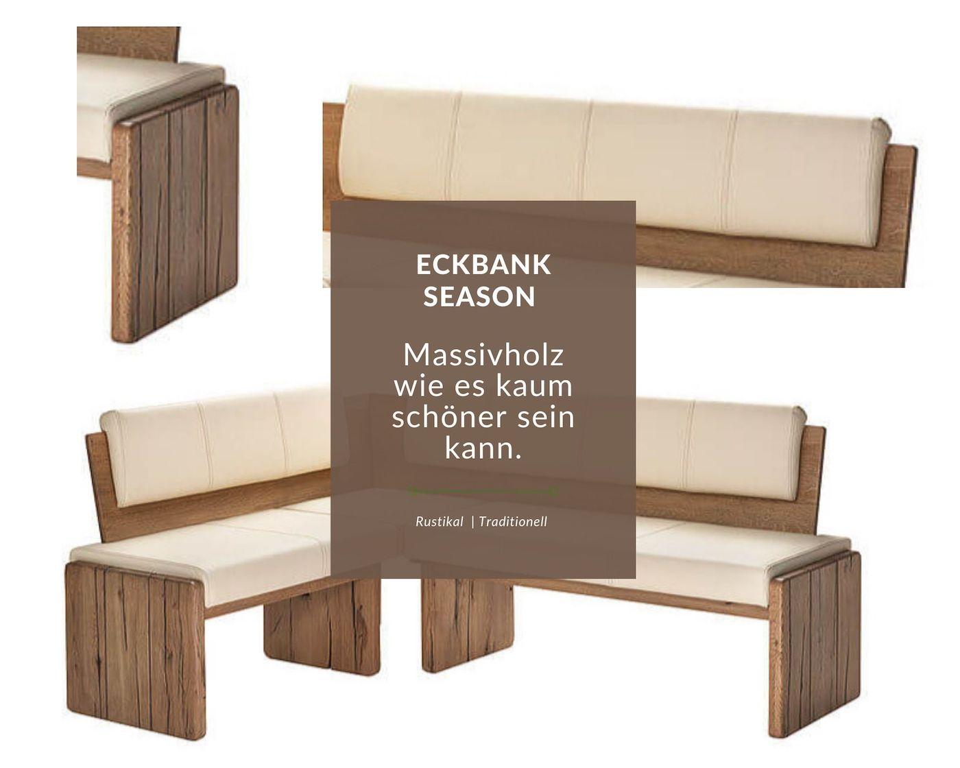 rustikale massivholz eckbank nach maß mit iltalienischen echtleder polsterung