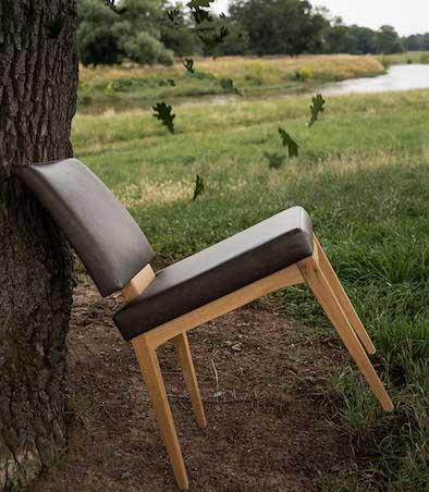 Designerstuhl Classy nostalgisch Leder Massivholz